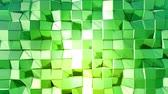 origami background : 4k clean low poly animated background in loop. Seamless 3d animation in modern geometric style with modern gradient colors. Creative simple background. Green yellow gradient, 2