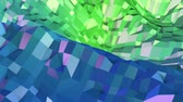 периодический : 4k clean geometric animated background in loop, low poly style. Seamless 3d animation with modern gradient colors. Creative simple green blue background. 10 Стоковые видеозаписи