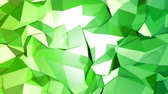 dureza : 4k clean geometric animated background in loop, low poly style. Seamless 3d animation with modern gradient colors. Creative simple green yellow background with copy space. 1