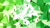 fácil : 4k clean geometric animated background in loop, low poly style. Seamless 3d animation with modern gradient colors. Creative simple green yellow background with copy space. 2
