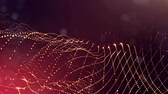 массивный : 4k abstract background of glowing golden red particles with shining bokeh sparkles. Dark composition with oscillating luminous particles. Science fiction. Smooth animation looped. 22 Стоковые видеозаписи