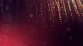 freqüência : dynamic abstract background of glowing particles with shining bokeh sparkles. Dark golden red composition with oscillating luminous particles. Science fiction. Smooth animation looped. 3