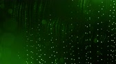 twisted : dynamic abstract background of glowing particles with shining bokeh sparkles. Dark green composition with oscillating luminous particles. Science fiction. Smooth animation looped. 6