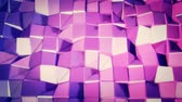 кристаллический : Seamless 3d geometric background in modern geometric style low poly with bright gradient colors. 4k clean violet low poly 3d animation in loop. fluttering flat surface 1
