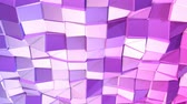 cristalino : Seamless 3d geometric background in modern geometric style low poly with bright gradient colors. 4k clean violet low poly 3d animation in loop. fluttering flat surface 5 Stock Footage