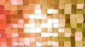 cristalino : Seamless 3d geometric background in modern geometric style low poly with bright gradient colors. 4k clean red orange low poly 3d animation in loop. fluttering flat surface 6 Vídeos