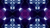 luxurious : 3d loop sci-fi animation with glow particles form rolling kaleidoscopic structures. Seamless footage as dark blue digital abstract background with particles, depth of field, bokeh. Motion graphics 4