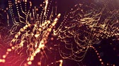 interruptor : abstract looped dynamic garlands of luminous particles for decoration of Christmas and New Years compositions. Abstract particle background with depth of field. Golden v6