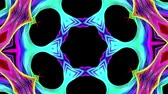 gradiente : colorful kaleidoscopic form in a rainbow in circular formation twist, move. Seamless creative background, looped 3d smooth animation of bright shiny forms curled in circle 7