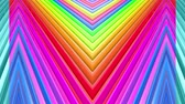 paski : Rainbow multicolored stripes move cyclically. Abstract 3d seamless bright background in 4k. Simple geometry in cartoon creative style. Looped smooth animation. Line 1