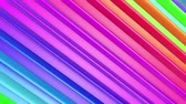 полосы : Rainbow multicolored stripes move cyclically. Abstract 3d seamless bright background in 4k. Simple geometry in cartoon creative style. Looped smooth animation. Line 8