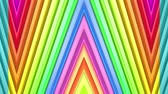 радужный : Rainbow multicolored stripes move cyclically. Abstract 3d seamless bright background in 4k. Simple geometry in cartoon creative style. Looped smooth animation. Line 17 Стоковые видеозаписи