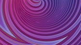 cheery : popular gradient color stripes move cyclically. Abstract 3d smooth seamless bright background in 4k. Simple geometry in cartoon creative style. Looped animation. Curves 8