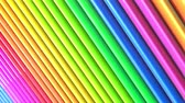 cartoon : Rainbow multicolored stripes move cyclically. Abstract 3d seamless bright background in 4k. Simple geometry in cartoon creative style. Looped smooth animation. Line 22 Stock Footage