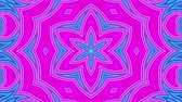 kesintisiz desen : stripes move cyclically. Abstract 3d seamless bright background in 4k. Simple geometry in cartoon creative style. Looped smooth animation. kaleidoscope 4