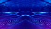 macrocosm : 4k abstract looped backgrounds with luminous particles with depth of field. Science fiction background. Blue dot structures 18 Stock Footage