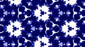 reagent : 3d render ink kaleidoscope effect with luma matte as alpha channel for visual effects and easy compositing. Blue ink on white background 14