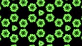 mixing in : 3d render ink kaleidoscope effect with luma matte as alpha channel for visual effects and easy compositing. Glow green ink on black background 1 Stock Footage