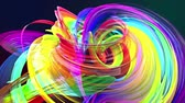 zametání : looped 3d smooth animation of bright shiny ribbons curled in circle glitters like glass. Colorful stripes twist in a circular formation, move in a circle. Seamless creative background. Multicolored 1 Dostupné videozáznamy