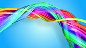 пульсация : Rainbow stripes are moving in a circle and twisting as abstract background. 4