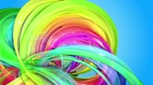 nastri colorati : Rainbow stripes are moving in a circle and twisting as abstract background. 21