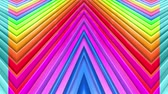 curvo : Rainbow multicolored stripes move cyclically. 24 Stock Footage