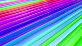 geometrical shapes : Rainbow multicolored stripes move cyclically. 25 Stock Footage