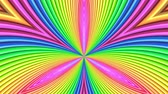 праздник : Rainbow multicolored stripes move cyclically. 45 Стоковые видеозаписи
