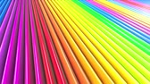 geometrical shapes : Rainbow multicolored stripes move cyclically. 53 Stock Footage