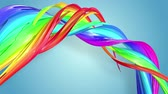 csík : Abstract seamless background with multicolored ribbons. Rainbow stripes are moving in a circle and twisting. 56