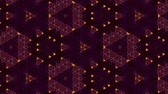 pontilhado : Glow particles form ornate pattern like mandala. Abstract seamless animation as science fiction pattern for HUD screen element. Top of view. Complex structure as background. Golden red ver 42