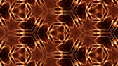 nano : Glow particles form ornate pattern like mandala. Abstract seamless animation as science fiction pattern for HUD screen element. Top of view. Complex structure as background. Golden red ver 55
