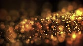solene : gold particles in liquid float and glisten. Background with glittering golden particles depth of field and bokeh. Luma matte to cut out glowing particles for holiday presentations. 4k 3d animation. 11 Vídeos