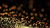 астральный : gold particles in liquid float and glisten. Background with glittering golden particles depth of field and bokeh. Luma matte to cut out glowing particles for holiday presentations. 4k 3d animation. 19