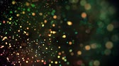 multicolorido : multicolored particles in liquid float and glisten. 4k 3d advection background with glittering particles, depth of field and bokeh isolated on black. Luma matte to cut out particles. 1