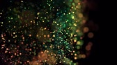 multicolorido : multicolored particles in liquid float and glisten. 4k 3d advection background with glittering particles, depth of field and bokeh isolated on black. Luma matte to cut out particles. 18 Stock Footage
