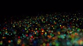 brilhar : multicolored particles in liquid float and glisten. 4k 3d advection background with glittering particles, depth of field and bokeh isolated on black. Luma matte to cut out particles. 66 Vídeos