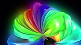 transgender : Abstract colorful creative background with stream of mixed oil paints that form a ribbon of rainbow colors. Paint flow moves in a circle. looped 3d animation in 4k with luma matte as alpha channel. 9 Stock Footage