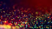 混沌とした : multicolored particles like confetti or spangles float in a viscous liquid and glitter in the light with depth of field. 3d abstract animation of particles in 4k. luma matte as the alpha channel. 9 動画素材