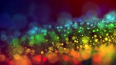 macrocosm : multicolored particles like confetti or spangles float in a viscous liquid and glitter in the light with depth of field. 3d abstract animation of particles in 4k. luma matte as the alpha channel. 12 Stock Footage
