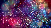 abundante : multicolored particles like confetti or spangles float in a viscous liquid and glitter in the light with depth of field. 3d abstract animation of particles in 4k. luma matte as the alpha channel. 51