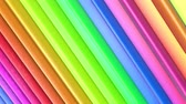 geometrical shapes : rainbow colors abstract stripes, background in 4k with bright shiny paint. Smooth seamless animation with gradient color. Straight lines 7 Stock Footage