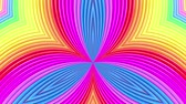 dynamický : rainbow colors abstract stripes, background in 4k with bright shiny paint. Smooth seamless animation with gradient color. symmetrical structures 7