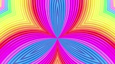 gioconda : rainbow colors abstract stripes, background in 4k. Smooth seamless animation with gradient color. symmetrical structures 2 Filmati Stock