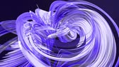 proužky : Abstract lines in motion as seamless creative background. Colorful stripes twist in a circular formation. Looped 3d smooth animation of bright shiny ribbons curled in circle. Blue 2 Dostupné videozáznamy