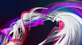 gradient : Abstract lines in motion as seamless creative background. Colorful stripes twist in a circular formation. Looped 3d smooth animation of bright shiny ribbons curled in circle. Multicolored 13 Stock Footage