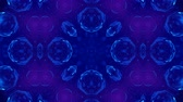 surealiste : Microworld, mandala or ornamental neon abstract background. Complex symmetric blue composition with glow particles that form wavy structures like in a kaleidoscope. 4k 3d looped smooth animation. 13 Vidéos Libres De Droits