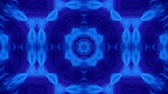 bg : Microworld, mandala or ornamental neon abstract background. Complex symmetric blue composition with glow particles that form wavy structures like in a kaleidoscope. 4k 3d looped smooth animation. 18 Stock Footage