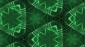 mesmerize : complex green composition of particles that form cells. 3d looped smoothed particles animation with a kaleidoscope effect. Science fiction background, microworld or cyberspace 11 Stock Footage