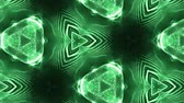 interruptor : complex green composition of particles that form cells. 3d looped smoothed particles animation with a kaleidoscope effect. Science fiction background, microworld or cyberspace 21